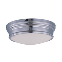 Maxim Lighting Fairmont 3 Light Flush Mount in Polished Nickel 22371SWPN