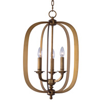 Maxim Lighting Fairmont 3 Light Pendant in Natural Aged Brass 22372NAB