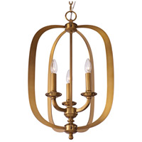 Maxim 22372NAB Fairmont 3 Light 16 inch Natural Aged Brass Pendant Ceiling Light alternative photo thumbnail