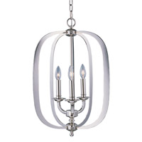 Maxim Lighting Fairmont 3 Light Pendant in Polished Nickel 22372PN