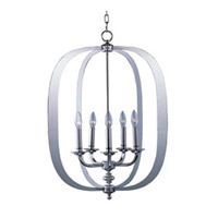 Maxim Lighting Fairmont 5 Light Pendant in Polished Nickel 22373PN