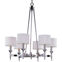 Maxim Lighting Fairmont 6 Light Chandelier in Polished Nickel 22375WTPN