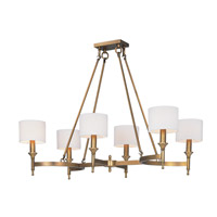 Fairmont 6 Light 22 inch Natural Aged Brass Single Tier Chandelier Ceiling Light