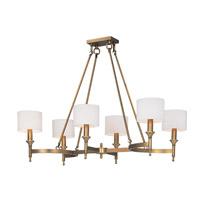 Maxim 22376OMNAB Fairmont 6 Light 22 inch Natural Aged Brass Single Tier Chandelier Ceiling Light