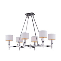 Maxim 22376WTPN Fairmont 6 Light 22 inch Polished Nickel Chandelier Ceiling Light