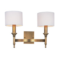 Fairmont 2 Light 18 inch Natural Aged Brass Wall Sconce Wall Light, Maxim SHADE ONLY ITEM 22379OMNAB shade only