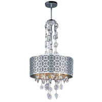 Symmetry 6 Light 21 inch Polished Nickel Single Pendant Ceiling Light