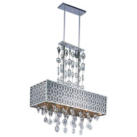 Symmetry 8 Light 32 inch Polished Nickel Island Pendant Ceiling Light