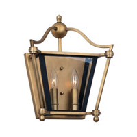 Maxim Lighting Ritz 2 Light Wall Sconce in Natural Aged Brass 22393CLNAB