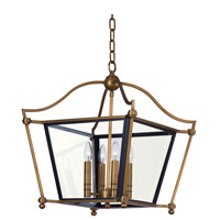 Ritz 4 Light 26 inch Natural Aged Brass Chandelier Ceiling Light