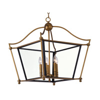 Ritz 5 Light 32 inch Natural Aged Brass Chandelier Ceiling Light