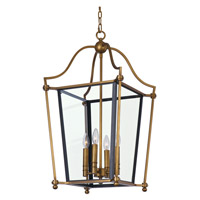 Ritz 4 Light 22 inch Natural Aged Brass Chandelier Ceiling Light