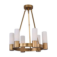 Maxim Lighting Contessa 6 Light Chandelier in Natural Aged Brass 22416SWNAB