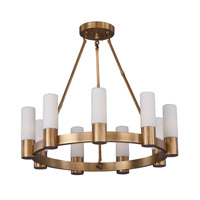 Maxim Lighting Contessa 9 Light Chandelier in Natural Aged Brass 22418SWNAB