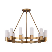 Contessa 12 Light 35 inch Natural Aged Brass Chandelier Ceiling Light