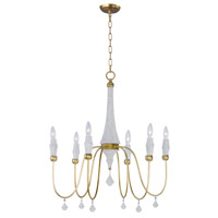 Maxim 22436CSTGL Claymore 6 Light 28 inch Claystone and Gold Leaf Chandelier Ceiling Light