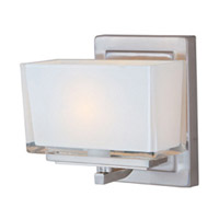 Maxim Lighting Progetto 1 Light Wall Sconce in Satin Nickel 23011WISN photo thumbnail
