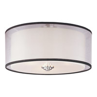 Orion 3 Light 15 inch Satin Nickel Flush Mount Ceiling Light