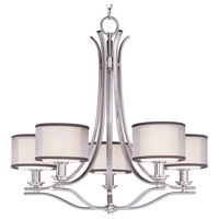 Orion 5 Light 29 inch Satin Nickel Single Tier Chandelier Ceiling Light