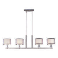 Orion 4 Light 42 inch Satin Nickel Island Pendant Ceiling Light