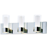 Maxim Lighting Silo 3 Light Bath Light in Polished Chrome 23073CLFTPC