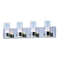 Maxim 23074CLFTPC Silo 4 Light 27 inch Polished Chrome Bath Light Wall Light