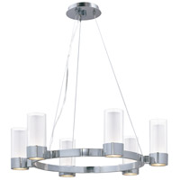 Silo 6 Light 27 inch Polished Chrome Single Tier Chandelier Ceiling Light