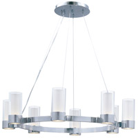 Silo 8 Light 32 inch Polished Chrome Single Tier Chandelier Ceiling Light