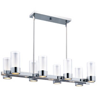 Silo 8 Light 35 inch Polished Chrome Island Pendant Ceiling Light