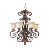 Maxim Lighting Beaumont 5 Light Single Tier Chandelier in Golden Fawn 24105CFGF photo thumbnail