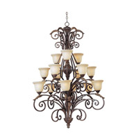 Maxim Lighting Beaumont 15 Light Multi-Tier Chandelier in Golden Fawn 24107CFGF photo thumbnail