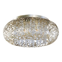 Arabesque 7 Light 18 inch Golden Silver Flush Mount Ceiling Light in 50
