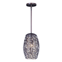 Maxim 24153CGOI Arabesque 1 Light 7 inch Oil Rubbed Bronze Mini Pendant Ceiling Light
