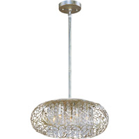 Arabesque 7 Light 18 inch Golden Silver Pendant Ceiling Light