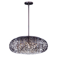 Maxim 24154CGOI Arabesque 7 Light 18 inch Oil Rubbed Bronze Single Pendant Ceiling Light