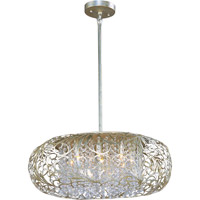 Arabesque 9 Light 24 inch Golden Silver Pendant Ceiling Light