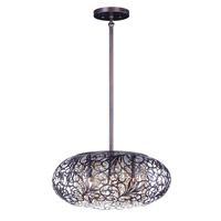 Maxim 24155CGOI Arabesque 9 Light 24 inch Oil Rubbed Bronze Single Pendant Ceiling Light in 40