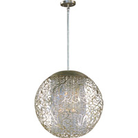 Arabesque 9 Light 23 inch Golden Silver Pendant Ceiling Light