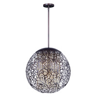 Maxim 24156CGOI Arabesque 9 Light 23 inch Oil Rubbed Bronze Single Pendant Ceiling Light