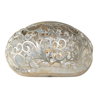 Arabesque 1 Light 10 inch Golden Silver Wall Sconce Wall Light