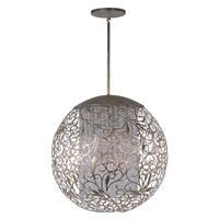 Arabesque 13 Light 30 inch Golden Silver Pendant Ceiling Light