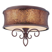 Maxim Lighting Alexander 3 Light Semi Flush Mount in Umber Bronze 24160SBUB