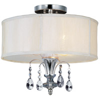 Montgomery 3 Light 17 inch Polished Nickel Semi Flush Mount Ceiling Light