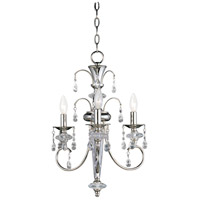 Montgomery 3 Light 16 inch Polished Nickel Mini Chandelier Ceiling Light