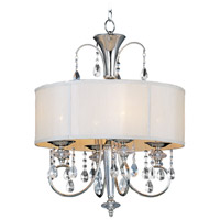 Maxim Lighting Montgomery 4 Light Pendant in Polished Nickel 24304CLBSPN