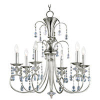 Maxim 24306CLPN Montgomery 6 Light 28 inch Polished Nickel Single Tier Chandelier Ceiling Light