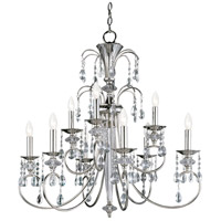 Maxim Lighting Montgomery 9 Light Multi-Tier Chandelier in Polished Nickel 24307CLPN