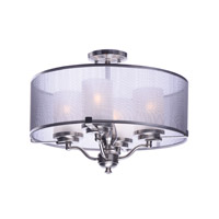 Lucid 4 Light Satin Nickel Semi-Flush Mount Ceiling Light