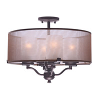 Lucid 4 Light Oil Rubbed Bronze Semi-Flush Mount Ceiling Light