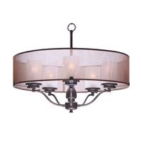 Maxim 24555TSOI Lucid 5 Light 26 inch Oil Rubbed Bronze Pendant Ceiling Light